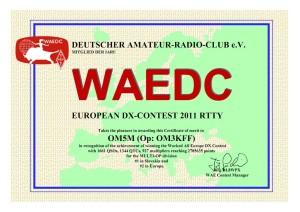 diplom WAE RTTY 2011